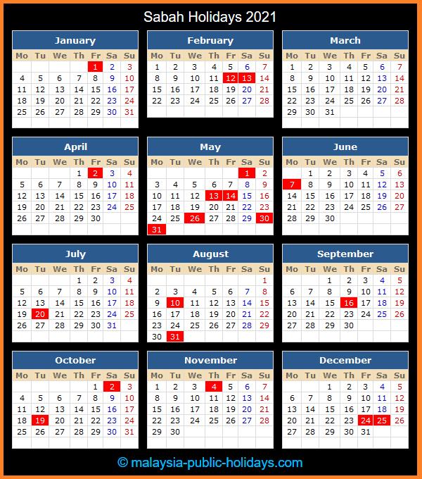 Sabah Holidays 2021